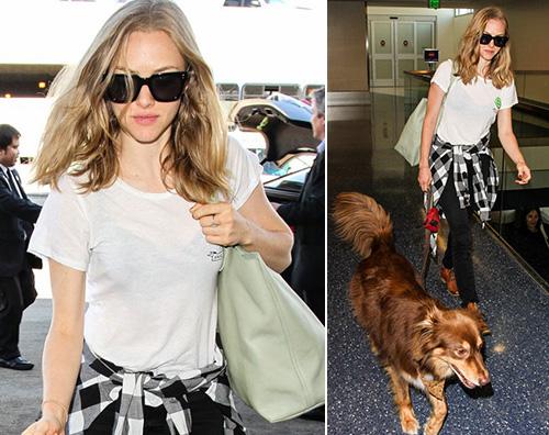 Amanda Seyfried Amanda Seyfried viaggia col cane
