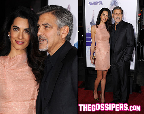 GeorgeClooney Amal Alamuddin George Clooney sul red carpet con Amal