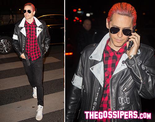 Jared Leto 2 Jared Leto, capelli rosa neon a Parigi