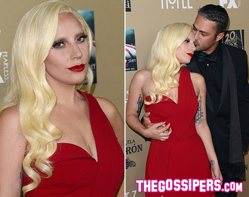 Lady Gaga 2 Lady Gaga e Taylor Kinney red carpet di coppia