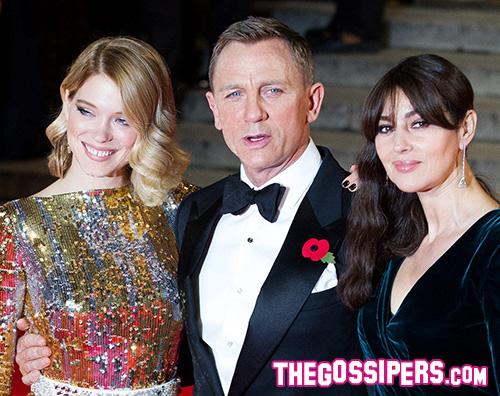 MonicaDanielLea2 Kate Middleton arriva alla premiere di Spectre