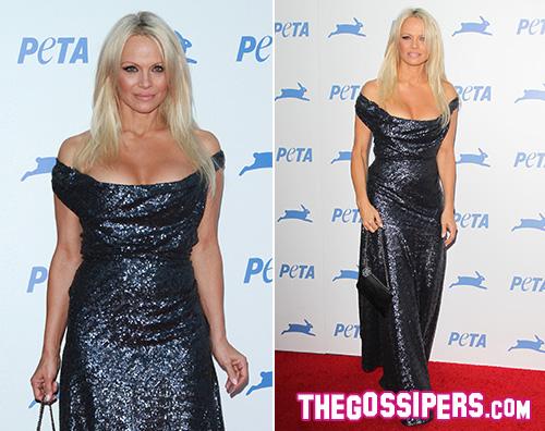 Pamela Anderson Pamela Anderson splende per l anniversario PETA