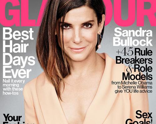 Sandra Bullock Sandra Bullock sulla cover di Glamour