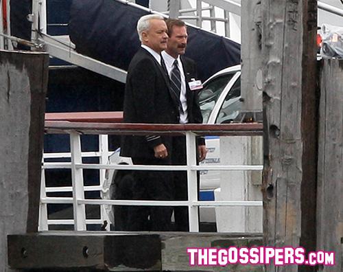 Tom Hanks Tom Hanks, capelli bianchi sul set