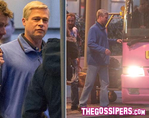 Brad Pitt Brad Pitt si fa biondo per War Machine