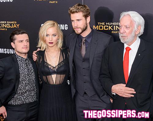 Hunger Games Cast Hunger Games  Il Canto della Rivolta Pt 2 premiere a New York