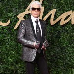 KarlLagerfeld 150x150 Lady Gaga abito rosso per i British Fashion Awards