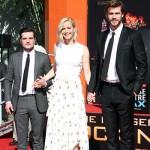 Liam Hemsworth Jennifer Lawrence Josh Hutcherson 2 150x150 Le star di Hunger Games lasciano le loro impronte sul cemento