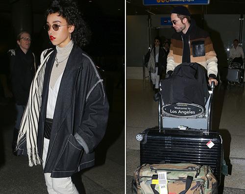 Robert Pattinson FKA Twigs Robert Pattinson e FKA Twigs arrivano al LAX