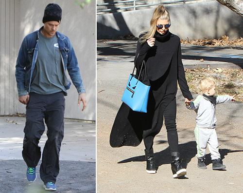 Fergie Josh Axl Passeggiata in famiglia per Fergie