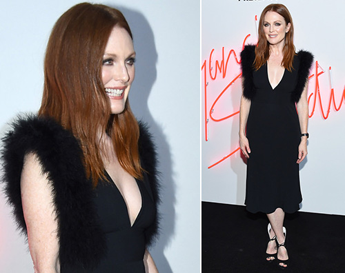 Julianne Moore 2 Julianne Moore sceglie il nero per il party Ferragamo