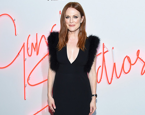 Julianne Moore Julianne Moore sceglie il nero per il party Ferragamo