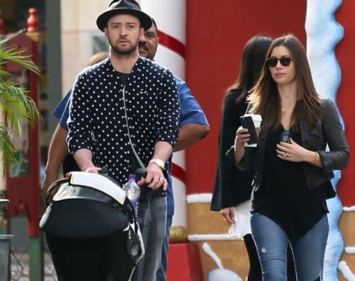 Justin Timberlake Justin e Jessica a passeggio con Silas