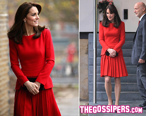 Kate Middleton 1 Kate Middeton in rosso all Anna Freud Centre Family School