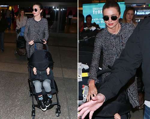 Miranda Kerr 21 Miranda Kerr arriva al LAX con Flynn
