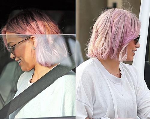 Hilary Duff1 Hilary Duff ritorna ai capelli rosa