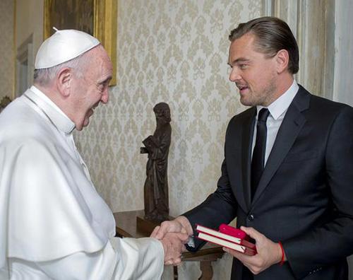 LeonardoDiCaprio PapaFrancesco Leonardo DiCaprio in udienza da Papa Francesco