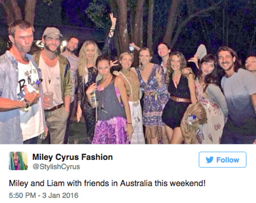 Liam Miley Miley Cyrus e Liam Hemsworth: capodanno insieme?