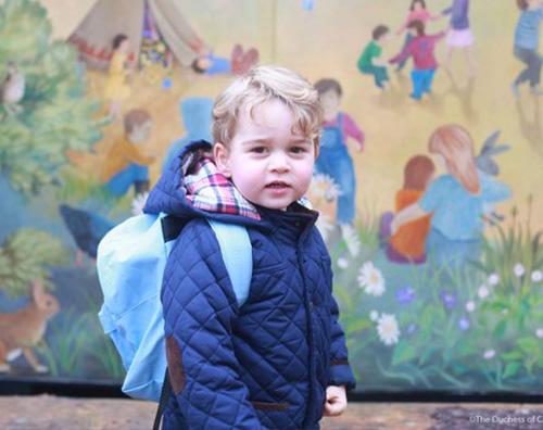 Principe George Primo giorno di asilo nido per il principino George