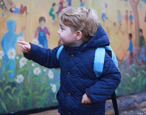 Principino Georhe Primo giorno di asilo nido per il principino George