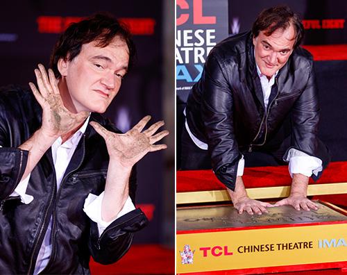 Quentin Tarantino Quentin Tarantino ha lasciato le sue impronte al Chinese Theatre