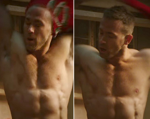 Ryan Reynolds Ryan Reynolds senza maglietta per Deadpool