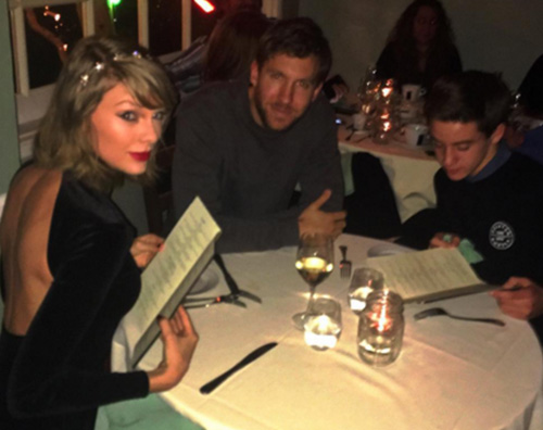 Taylor Swift Calvin Harris Taylor Swift e Calvin Harris a cena... con un fan