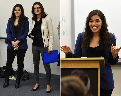 America Ferrera America Ferrera parla agli scolari dell importanza del voto
