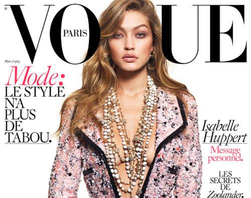 Gigi hadid 2 Gigi Hadid è hot sulla cover di Vogue Paris
