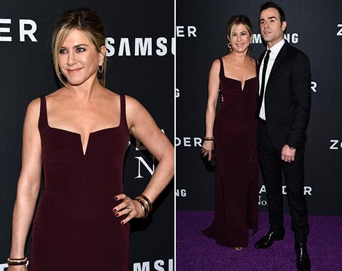 Jennifer aniston justin theroux Jennifer Aniston e Justin Theroux presentano Zoolander 2 a NY