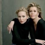 JenniferLawrence JaneFonda 150x150 Le attrici premio Oscar star della nuova cover di Vanity Fair