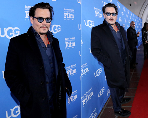 Johnny Depp Johnny Depp arriva al Santa Barbara International Film Festival