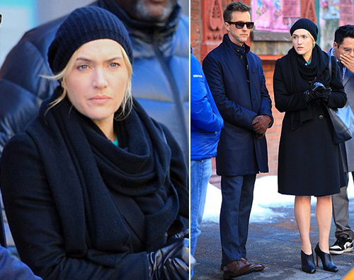 Kate Winslet 2 1 Kate Winslet sul set di Collateral Beauty
