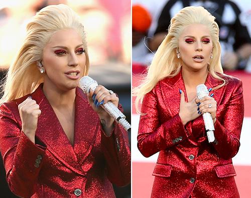 Lady Gaga 2 Lady Gaga canta l inno americano al 50esimo Super Bowl