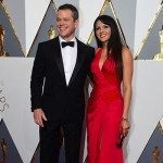 MattDamon LucianaBarroso 150x150 Oscar 2016: gli arrivi sul red carpet
