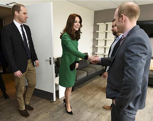 Kate William Kate Middleton in verde per la sua ultima uscita pubblica