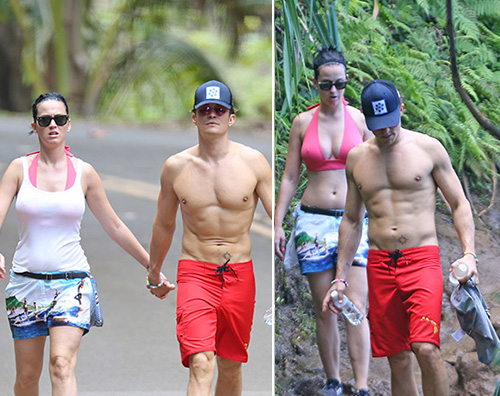 Katy Perry Orlando Bloom Katy Perry e Orlando Bloom, vacanza romantica alle Hawaii
