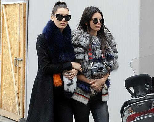 Kendall Bella Kendall Jenner a Roma per Fendi