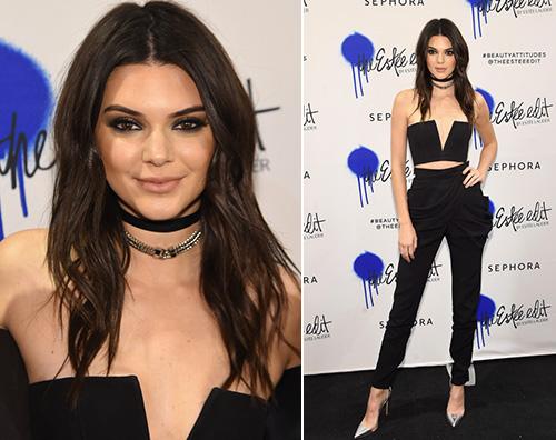 Kendall jenner Kendall Jenner in nero per Estee Lauder