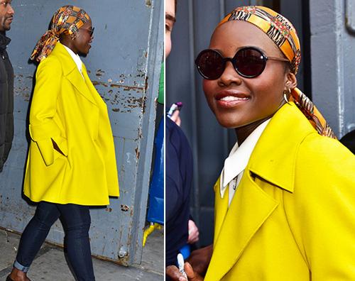 Lupita Nyongo Lupita Nyongo in giallo a New York