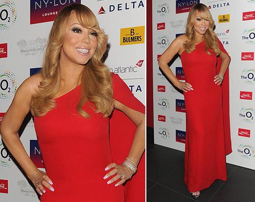 Mariah Carey  Mariah Carey in rosso per il suo momento d oro