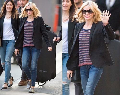 Naomi Watts Naomi Watts casual per il Jimmy Kimmel Live