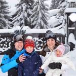 William Kate George Charlotte 150x150 Kate e William sulle Alpi francesi con George e Charlotte