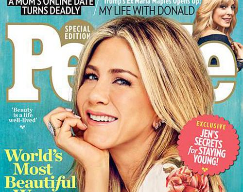 Jennifer Aniston People Cover Jennifer Aniston è la donna più bella al mondo per People