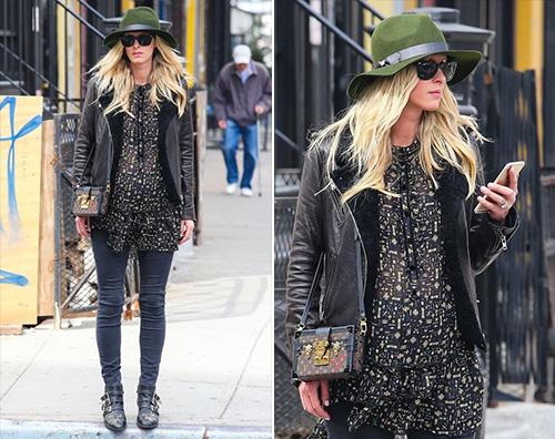 Nicky Hilton Nicky Hilton a passeggio col pancino