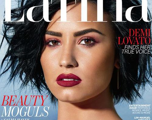 Demi Lovato Demi Lovato sulla cover di Latina Magazine