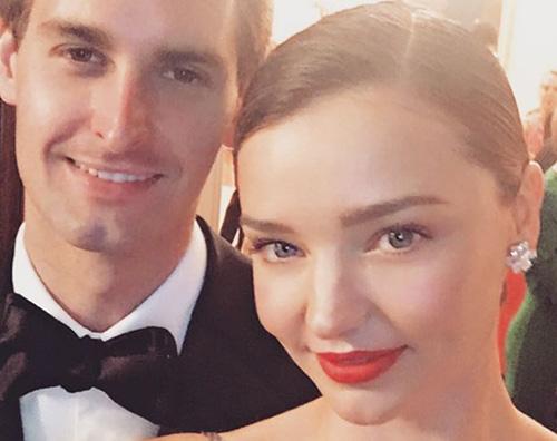 Miranda kERR EVAN SPIEGEL Miranda Kerr ed Evan Spiegel sono fidanzati