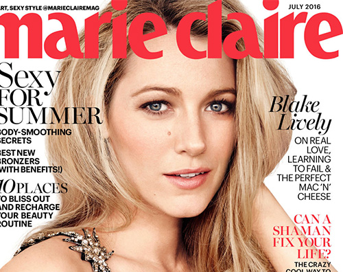 Blake Lively Blake Lively protagonista del mese su Marie Claire