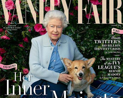 Cover La regina Elisabetta sulla cover di Vanity Fair