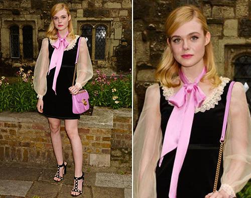 Elle Fanning Elle Fanning a Londra per la sfilata Gucci